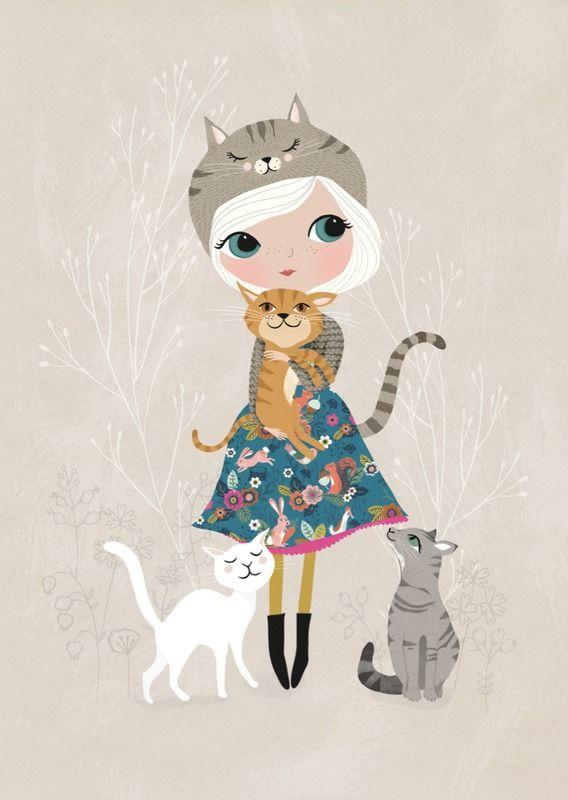 Rebecca Jones 'A4 Poster Cat Lover'