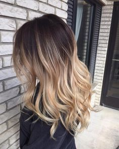 Blonde Balayage Ombre…