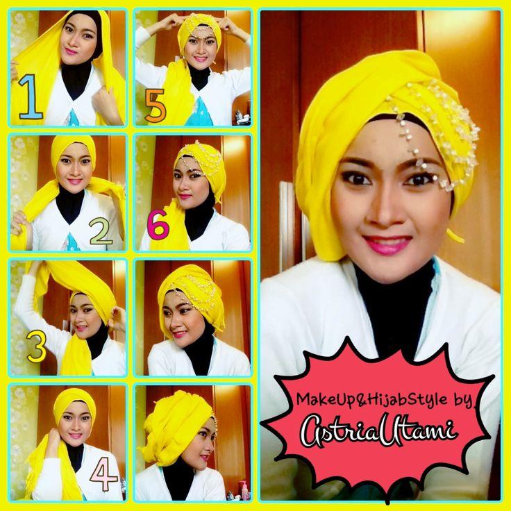 Mau pesta bingung mau pakai gaya hijab yg kaya gimana??? Lets try this tutorial girls.....