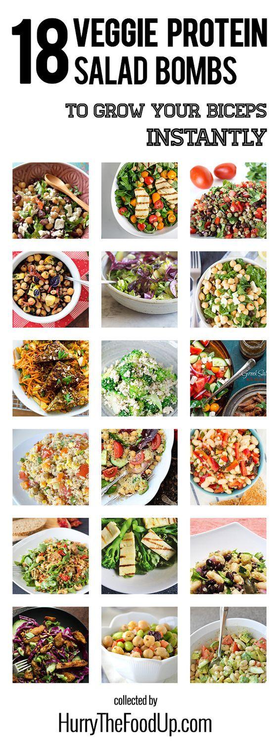 18 Vegan and Vegetarian High Protein Salads