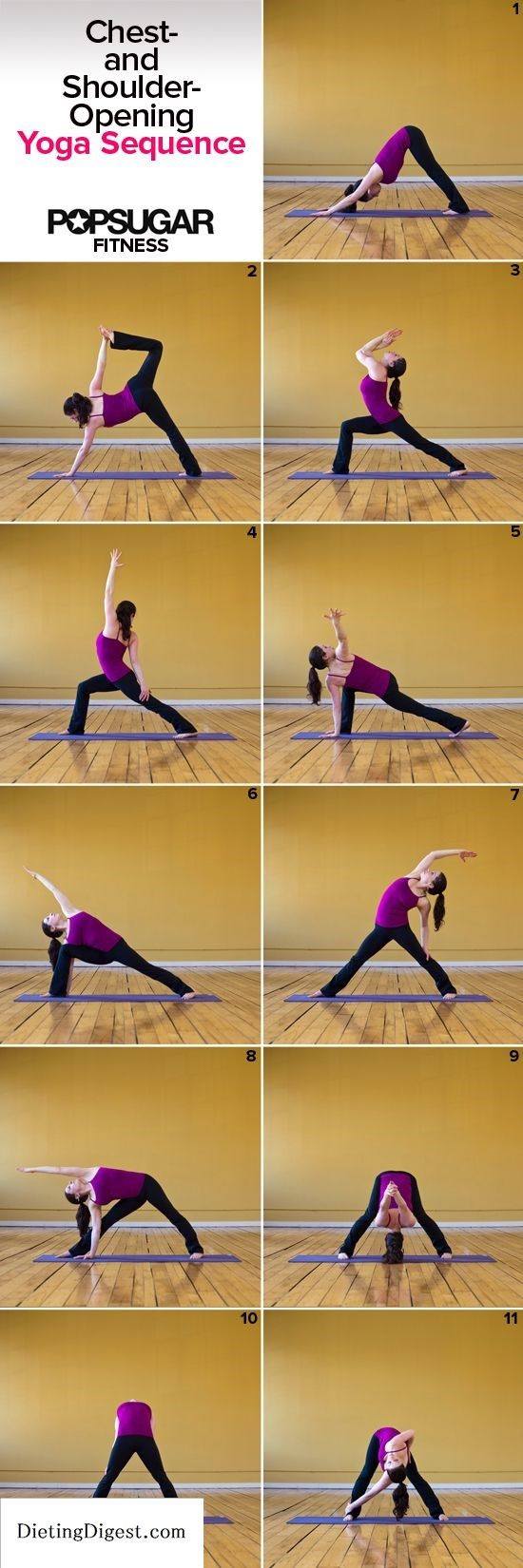 Yoga Sequence For Tight Shoulders Check out Dieting Digest, #Yoga, #Zen, #www.yogahealthretreats.com