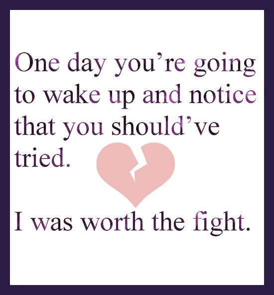one day you'll realize...