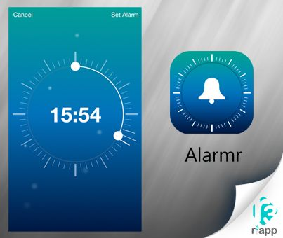 Exceptionally #easy and intuitive #alarm setting at www.r3app.com