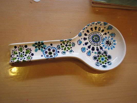 Painted spoonrest