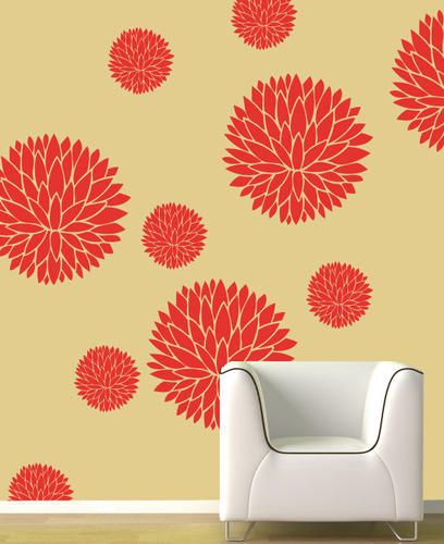23 best Damask Wall Painting Stencils images on Pinterest | Wall ...