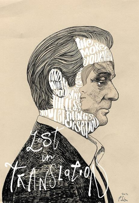 Alternative Movie Poster for Lost in Translation by Peter Strain - Just beautiful. #movieposter #lostintranslation