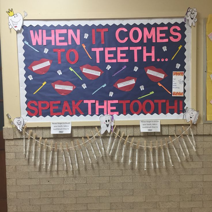 Created this bulletin board for dental health! Early childhood and head start bulletin board