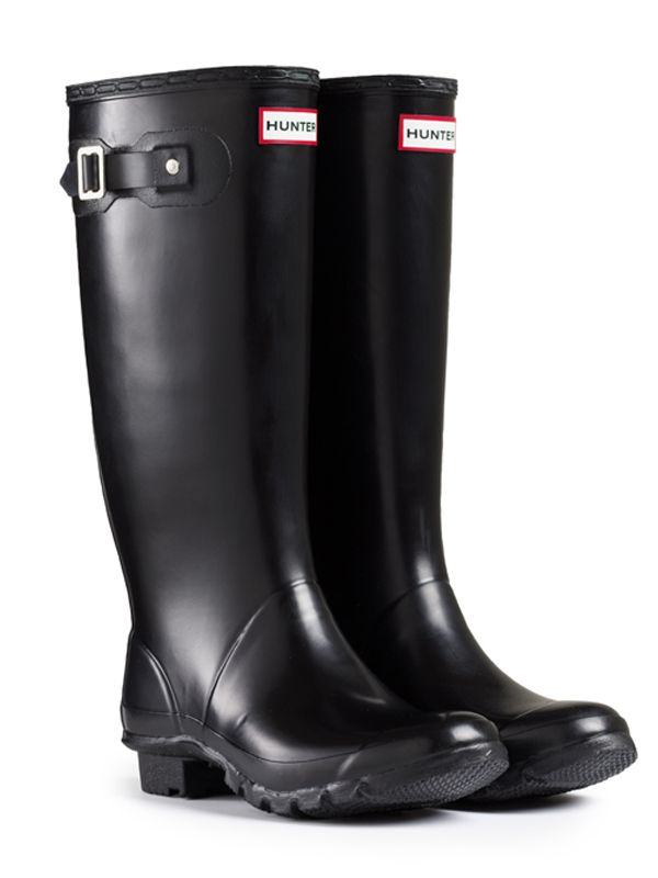 Huntress Wider Calf Rain Boots | Hunter Boot Ltd size 7 black