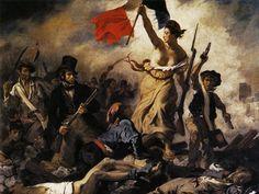 """s52-arte-la-libertad la libertad guiando al pueblo Delacroix """"sino puedo luchar por la patria, al menos pintaré para ella"""""""