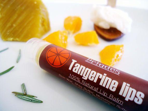 Organic lip balm. All natural beeswax lip butter. Tangerine and vanilla essential oils. #Handmade with #love by #Driades #chappedlipsbalm #organiclipbalm #kidslipbalm #allnaturallipbalm #beeswaxlipbalm #sheabutterlipbalm #lipbutter #naturallipbutter #crackedlipsbalm #vanillalipbalm #outdoorsmangifts #lipbalmallnatural #tangerinedreambalm #lipsalve #beeswaxsalve #murumurubutterbalm #vegeteriansgifts #biolipbalm #handmadelipbalm #handmadeskincare   https://www.etsy.com/listing/565900557