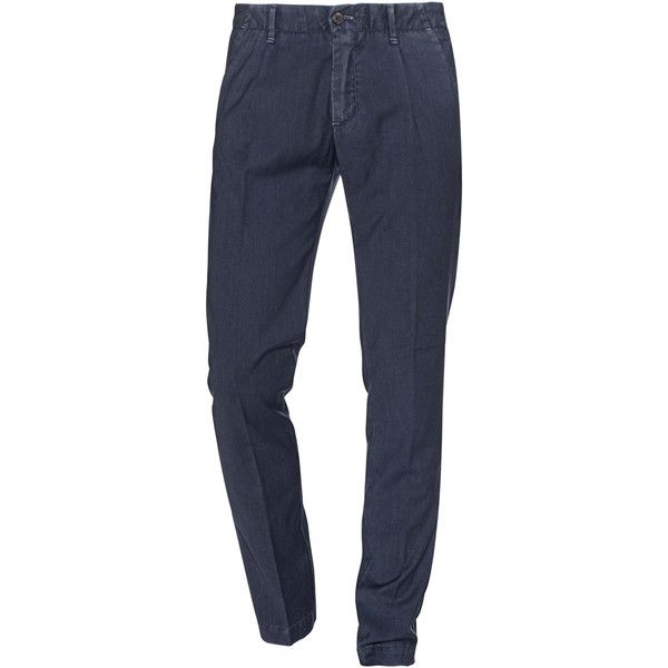 MYTHS Cool Navy // Light virgin wool chinos ($190) ❤ liked on Polyvore featuring men's fashion, men's clothing, men's pants, men's casual pants, mens slim fit chino pants, mens high waisted pants, old navy mens pants, mens lightweight pants and mens slim pants