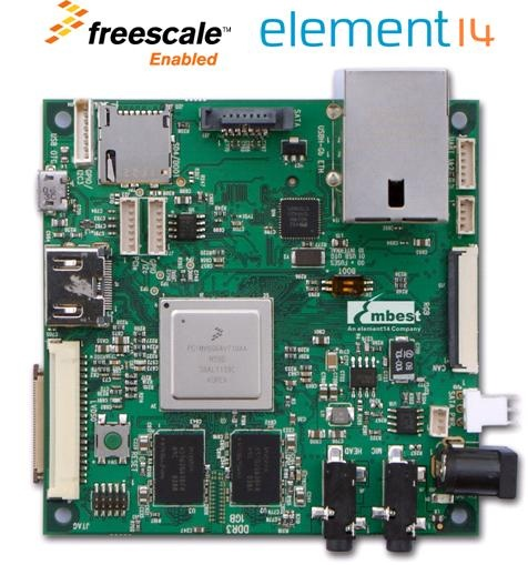 BACK IN STOCK! element14 development kit for i.MX 6Quad, built to the +Freescale® SABRE Lite design