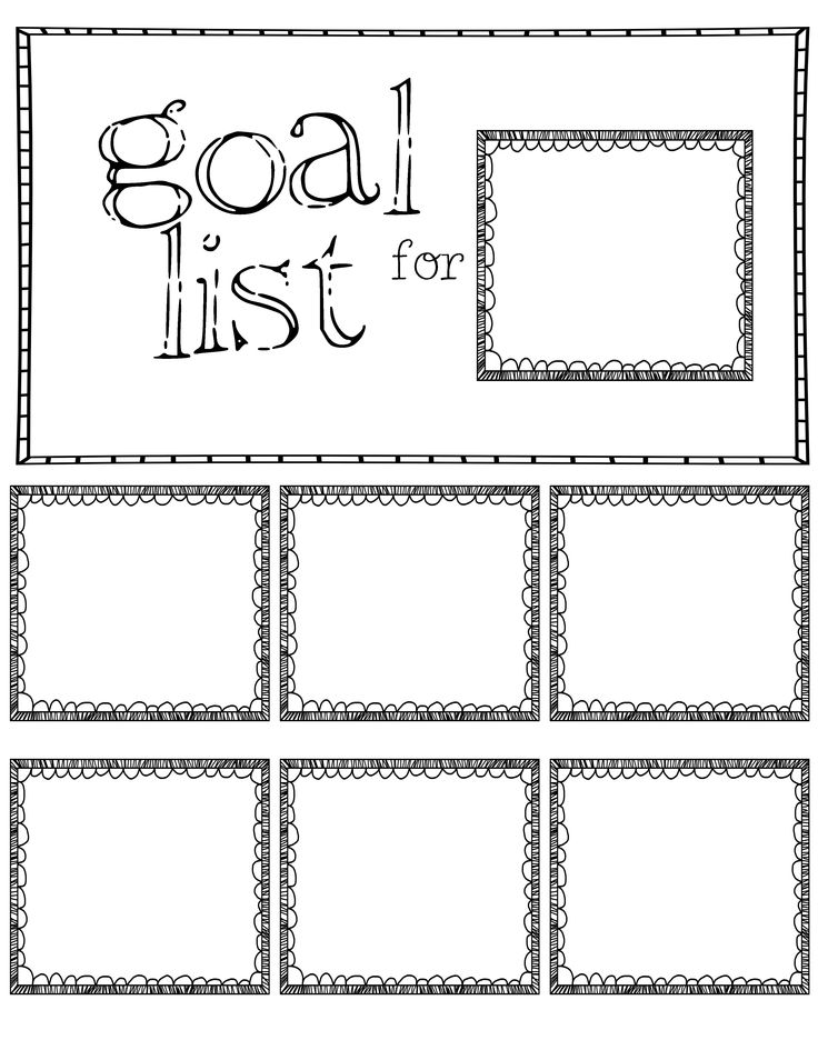 post it note goal sheet made one 11x14 for the classroom pinterest note. Black Bedroom Furniture Sets. Home Design Ideas