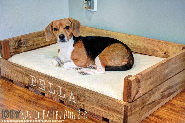 Sweet Bella, my love (DIY Rustic Pallet Dog Bed) | Southern Belle Soul, Mountain Bride Heart
