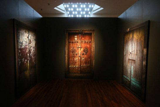 """Inside the labyrinthine 'Doors Without Keys' at the Aga Khan Museum, an installation of life-size photographs made by Abbas Kiarostami over decades of filming all over the world. In Iranian poetry, he says, doors are a metaphor for """"a passage, having history."""""""