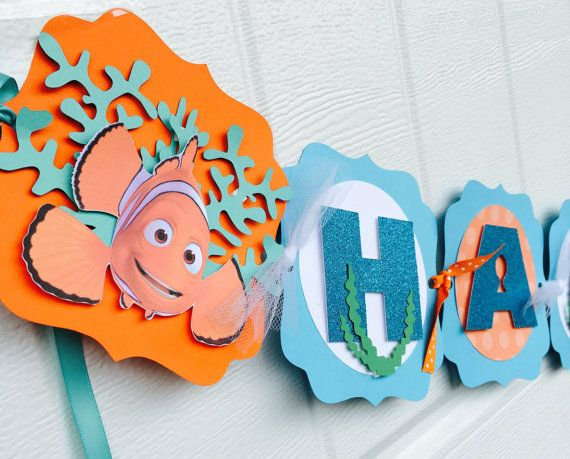 Finding Dory birthday banner Finding Dory by karlaspartycreations