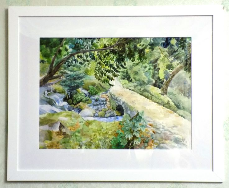 Autumn in the mountains. Watercolor 28*38. #Watercolor Repina N.