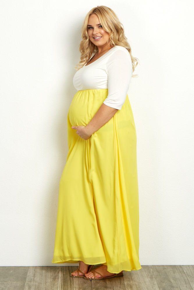 lavender chiffon colorblock plus maternity maxi dress