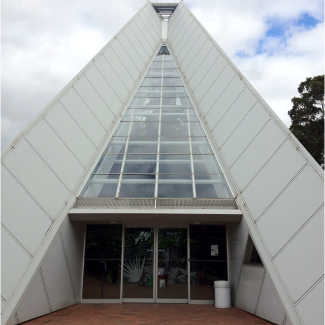 Front door of the Adelaide botanical gardens greenhouse