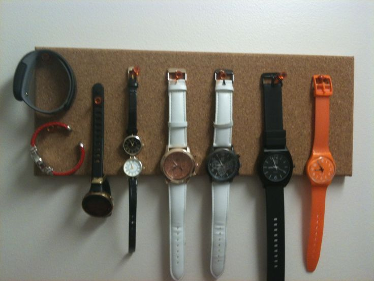 Watch organizer display! I seriously need to make this for my hubby!