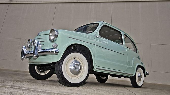 1960 Fiat 600 Sunroof Sedan 633 CC, 4-Speed presented as lot F123 at Monterey, CA 2014 - image1