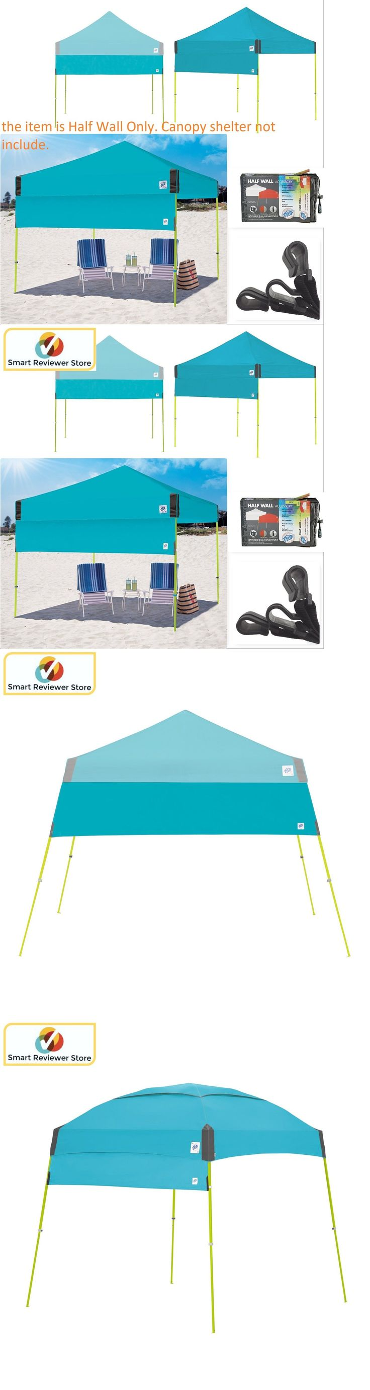 Canopies and Shelters 179011: Instant Canopy Tent 10X10 Half Wall Outdoor Pop Up Gazebo Patio Beach Sun Shade -> BUY IT NOW ONLY: $46.11 on eBay!