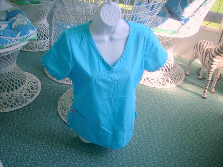 New KOi Orange Women's Uniform Scrub Teal Top Size Small Style#3100 #KoiOrangeStandard
