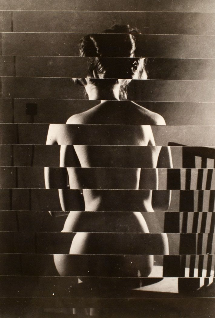 Václav Chochola – Back, Nude (rollage) 1960. An intriguing photograph that has been altered in an interesting way, before Photoshop came around.