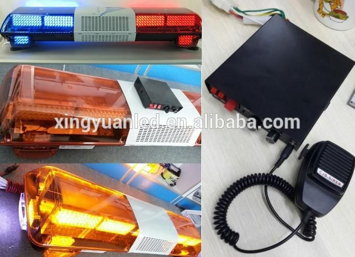 Ambulance lights 12v flashing blue and Red warnin signal light Police Car LED Emergency Warning Strobe Light Bar for Sale