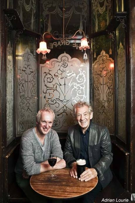 Pub partners: Sean Mathias and Sir Ian McKellen, who now own The Grapes at Limehouse Reach jointly with Evgeny Lebedev