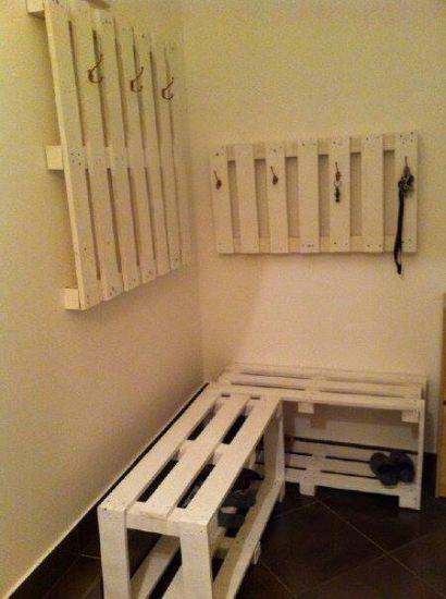 Coat hanger and a shoe rack