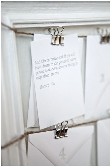 scripture advent calendar, I'll be adding these scriptures to mine with a small treat :)