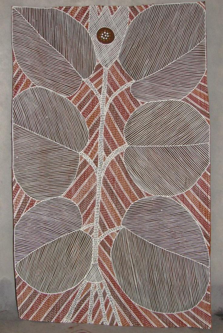 Bark art from Australia