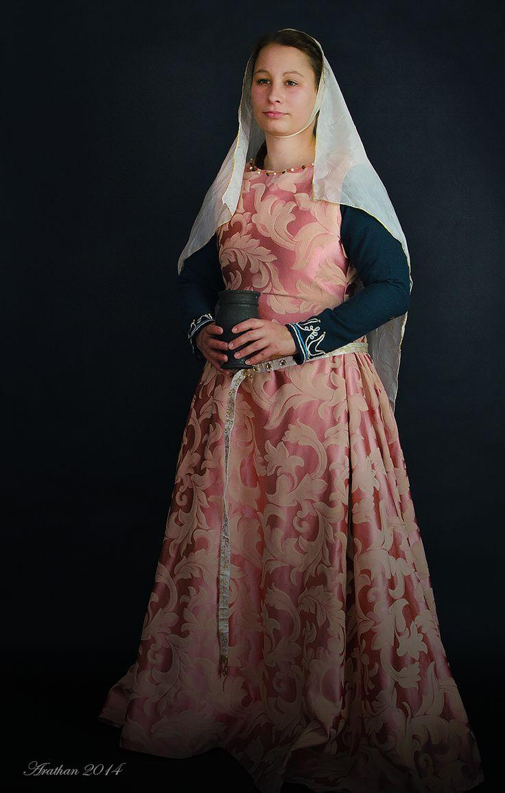 top dress - surcotte brocade cotton