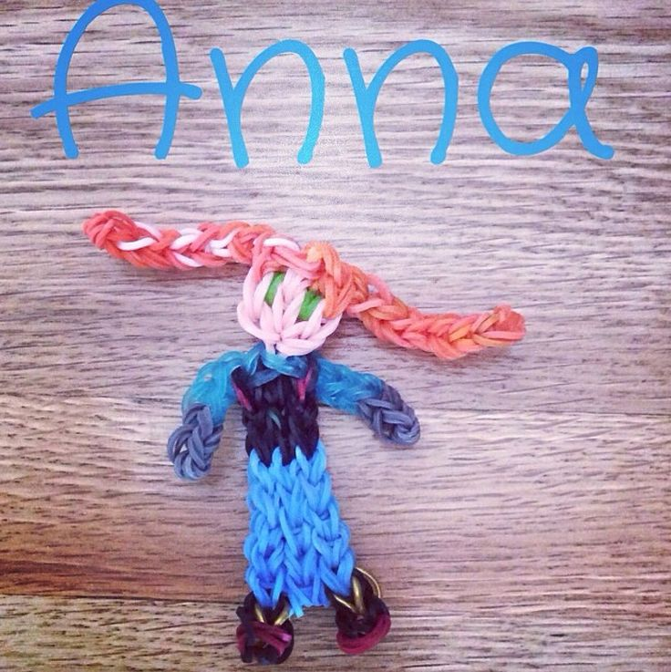 Anna from Frozen, original Rainbow Loom creation by Madgirl Designs
