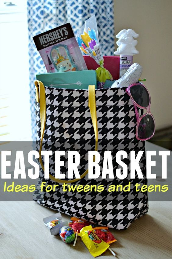7 best holiday images on pinterest creative gifts easter and gift easter basket ideas for tweens and teens negle Choice Image