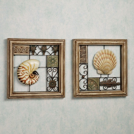 Seashell Collage Wall Art Set