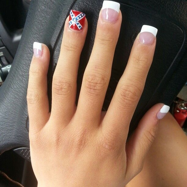 Confederate flag nails. I'm so getting these one day soon!