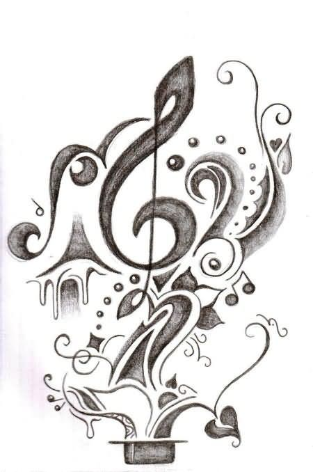 26 best Music Note Tattoo Designs Amazing Grace images on
