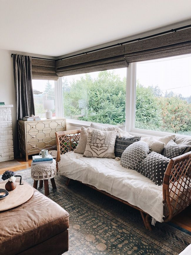 My Fall House Tour Blogger Home Projects We Love Pinterest - rattan schlafzimmer komplett