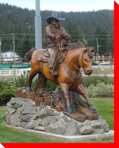 Cowboy and Horse - Williams Lake, British Columbia