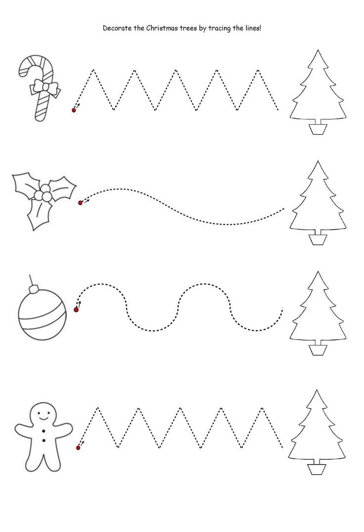Get the kids tracing lines to match the decoration to the tree! Once that's all done then get them to colour it in! NOTE: I've also tried this as a sticker tracing worksheet which the kids LOVE!