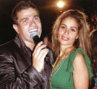 With his wife Zaina