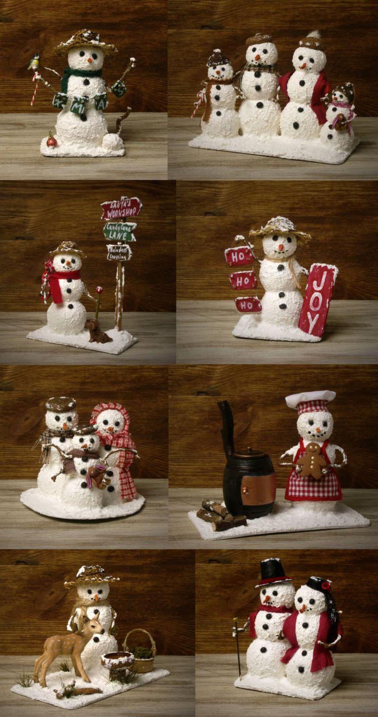 58 best images about miniature snowmen on Pinterest ...