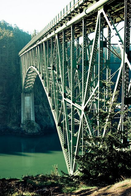 Deception Pass Bridge. Connects Whidbey Island to Fidalgo Island.. we lived on both islands.