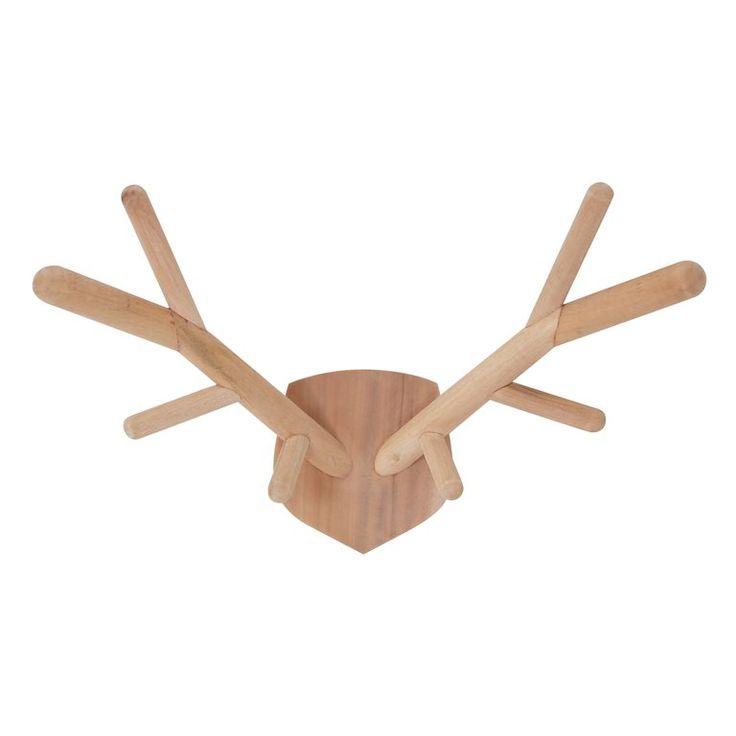 Met een knipoog naar de grote hertengeweien komt HKliving met dit speelse houten hertengewei voor aan de muur. Hang hem aan de muur als decoratie in de woon-of slaapkamer en creëer een leuke sfeer. Ook leuk voor een mooie kinderkamer!