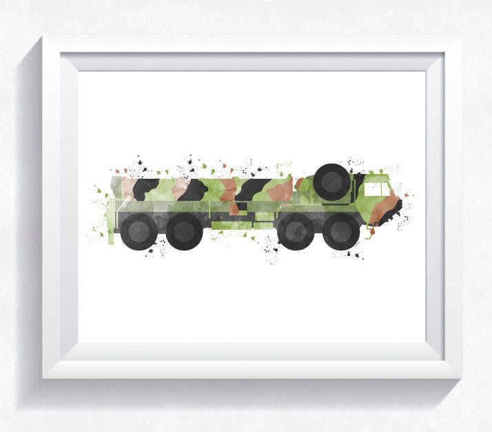Oshkosh Hemtt military armored car print, military car printable, military wall art, army car print, armored car printable boy room wall art by HappyLittleFrog on Etsy