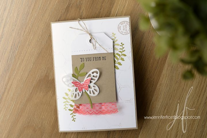 Papercraft by Jennifer Frost: Stampin' Up! On Stage Convention Swaps #2 - SU - And Many More - Butterflies Thinlits