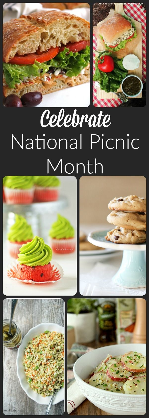 Picnic Menu Ideas for National Picnic Month. Recipes for main dishes, sides and desserts!