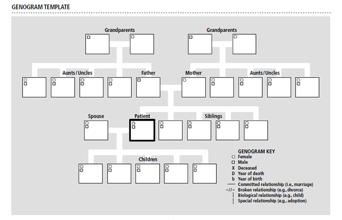 15 best genogram templates free premium templates for Family history genogram template